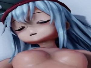 【3Dエロアニメ】 ドールズフロントラインのHK416がおっぱい丸出しで寝ているG11にエッチなイタズラしちゃう(レズ)【ドルフロMMD】