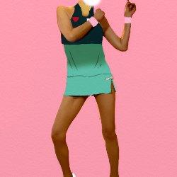 大坂なおみの衣装を着ているように見せかけて踊っている写真