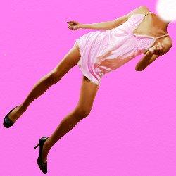 薄いピンクの下着