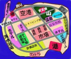 島の地図ミニ