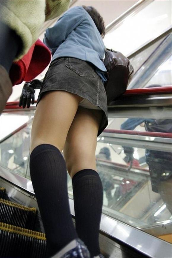 エスカレーターに乗ってる間はじっくりとパンチラを楽しみたいwwwwwww【画像30枚】09_20181216135217289.jpg