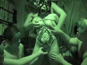 【久我かのん】ミニマムHカップ目隠し鼻フックギャグ緊縛M女が乳首とマンコで連続絶頂!