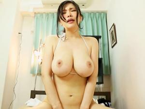 【沖田杏梨】SEXでLカップ超乳を揺らしまくってイカせちゃってる気持ちになれる主観映像