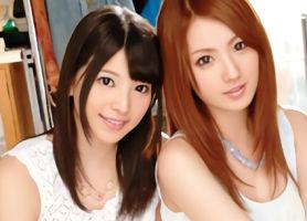 セクシー女優の美少女とお姉さんが素人男性宅にアポなし訪問! 3Pセックスでご奉仕!!