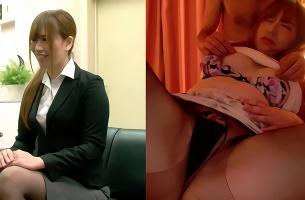 日常のOLたちが左画面、右画面はスケベするときのメス顔・・・ギャップに萌えるフェチ映像!
