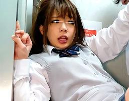 帰宅途中の可愛い女子校生を狙った犯行、エレベーターの密室で鬼畜レ〇プ!!