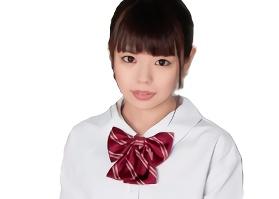 女子校生の制服が似合う童顔の少女がAV出演、パイパンマンコに生中出し!