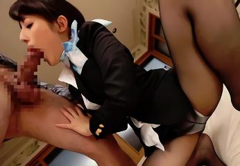 「生ハメで膣奥にドクドク出されるのが好き」という淫乱客室乗務員に種付け!