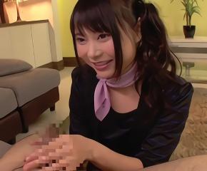 カッチカチに勃起した肉棒をシコシコ手コキ奉仕で癒してくれる激カワ美少女のセラピスト!