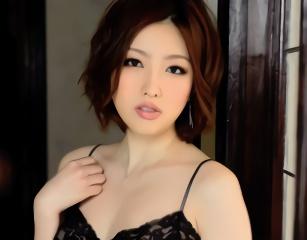 色白の綺麗なお姉さんが男を誘惑、ホテルの部屋で濃密セックス!