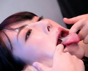 清楚系なイメージの黒髪美女は淫乱マゾ女、特濃ザーメンをクチマンコにぶちまけられて連続ごっくん!!