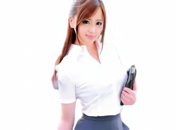 某大手の会社に勤めているという激カワ美少女OLがAV出演、仕事着の制服姿で生ハメ中出しセックス!
