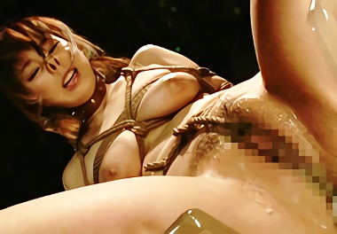 色白巨乳(くノ一)の美女を緊縛、身動きが取れない状況でヤリたい放題犯しまくる・・・★コスプレ★