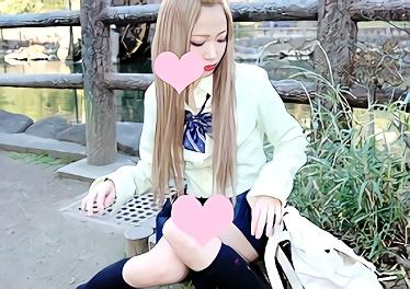 ★素人★都内から少し離れているロリギャル女子校生(JK)が円光!パイパンマンコを犯される円光中出しセックス!!