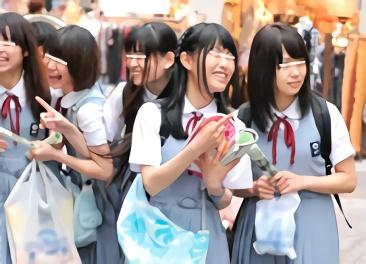 田舎から東京へとやってきた女子校生(JK)たちがお小遣い欲しさにスケベな企画に挑戦! 恥じらいながらチンポをしゃぶる!!