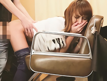 【花咲いあん】美容院で仕事中の激カワ痴女のお姉さんが気に入った男性を誘惑、周りにバレたらヤバい状況で濃密セックス!!
