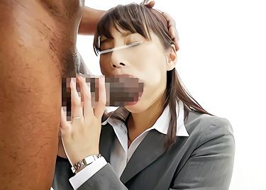 【企画】外回りの仕事をしている激カワ人妻OLがスケベ企画に参加!黒人デカチンを見せつけられて欲情、激ピストン濃密セックス!!