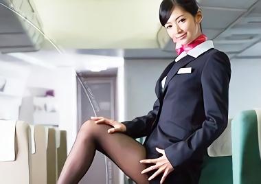 【麻生希】長身美脚スレンダーの激カワ客室乗務員(CA)が乗客の男性を誘惑してホテルに直行!激ピストンをおねだりする濃密セックス!!