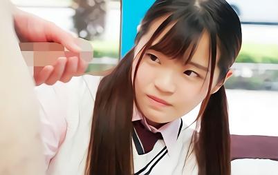 【マジックミラー号】小柄で可愛らしい美少女JKがミラー号に乗車!センズリ鑑賞するだけのはずが・・・男優と激ピストンセックス!!