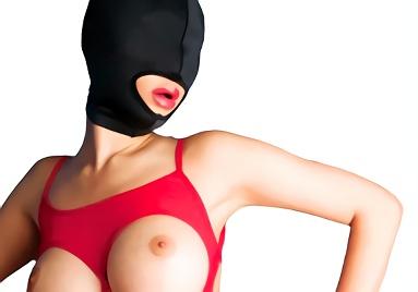 【素人】顔出しNG、全頭マスク着用のドスケベマゾ人妻がAV出演!理性ぶっ壊れ、金玉からアナルまでロベロ舐め回すフェラ抜き&マスクにぶっかけ!!