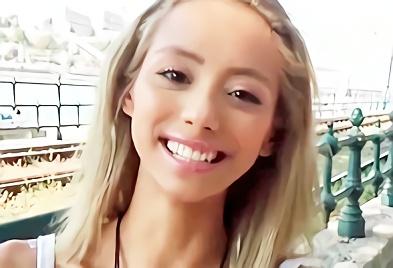【素人】南米のコロンビアで見つけた白人巨乳美少女をナンパ!パイパンマンコに日本人チンポを挿入する激ピストン中出しセックス!!