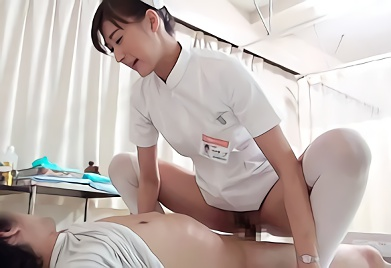 【神波多一花・企画】美脚スレンダーの美人ナースさんが精液採取!治療と称して患者に跨り腰を振りまくる生中出し!!