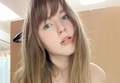 【ジューンラブジョイ・ぽっちゃり】むっちり豊満巨乳白人美少女が日本人の肉棒に貪りついて離さない濃密セックス!発射されたザーメンを美味しそうにごっくん!!