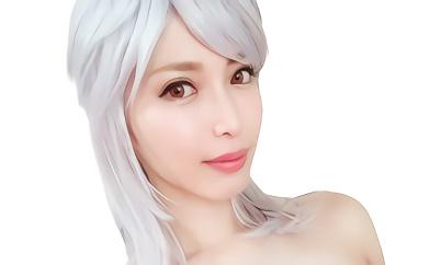【君島みお】ショートカット巨乳の美熟女が銀髪コスプレをして2本のデカチンで犯される激ピストン3Pセックス!!