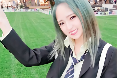 【渚みつき】緑髪が似合う、超絶カワイイ美少女JKが円光!完全にマグロ状態で膣奥をズボズボ犯されるハメ撮り中出しセックス!!