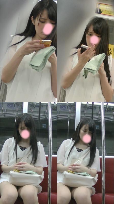 激カワ清楚女子大生逆さ撮り駅からずっと粘着黒髪ロングヘアー全身白 002