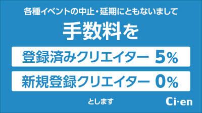 DLサイト 「Ci-en」 新規登録は手数料0% 登録済みは手数料5% 5/31まで