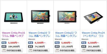 FANZA サークル向け  Wacom製液晶タブレットの期間限定レンタル開始