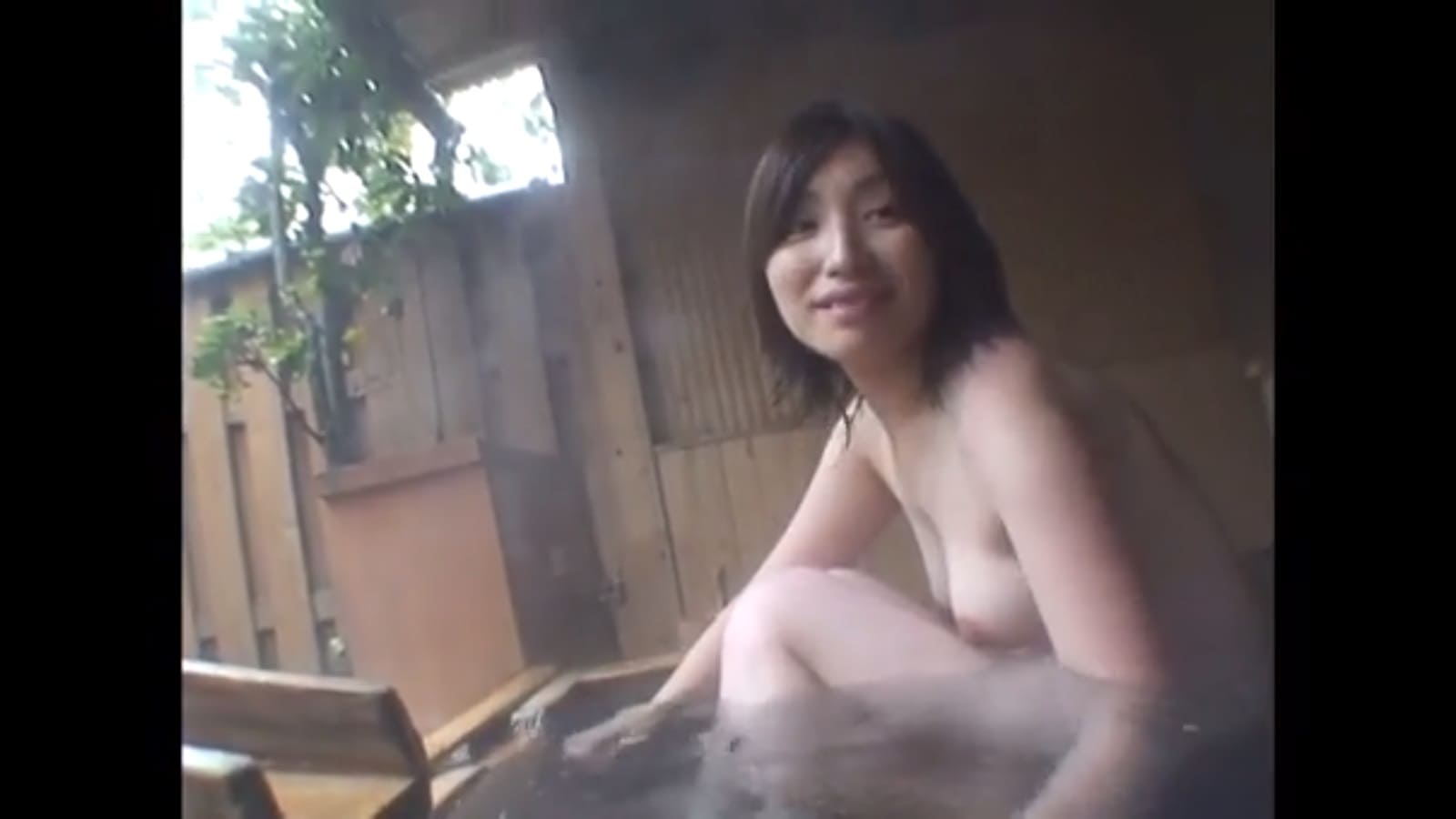 露天風呂でイチャイチャと混浴