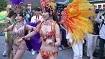 サンバカーニバルでくそエロい衣装とダンスで堂々とパレード