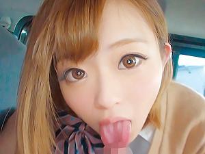 関西弁の金髪のJKの口リマンコを生でハメる円光個人撮影