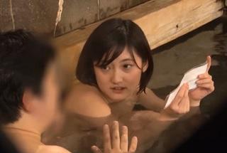 女子大生のシロウトに混浴温泉で他の男性客を抜きまくるエロミッションに挑戦してもらいます!