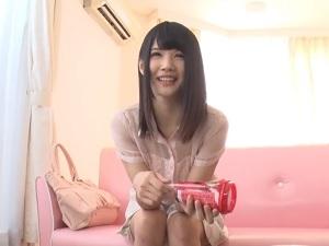 【無修正】白咲碧 華奢なロリ美少女がドッキリでいきなり挿入の生中出し!