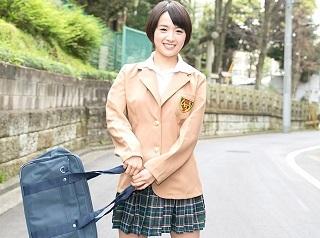 【無修正】羽田真里 ショートヘアーの似合う可愛いJKの放課後アルバイト