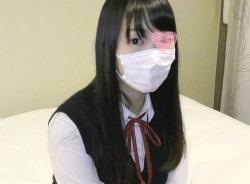 【無修正】SNSで清楚系な黒髪JKをゲットして円光中出しSEX!