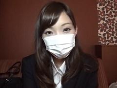 【無修正】S級のめちゃカワ就活生をホテルに呼び出しオマンコ審査