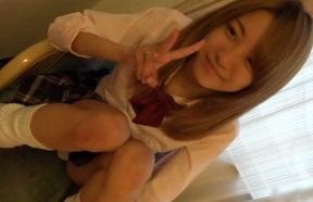 【無修正】美少女ギャルJKを制服姿のままハメる円光個人撮影