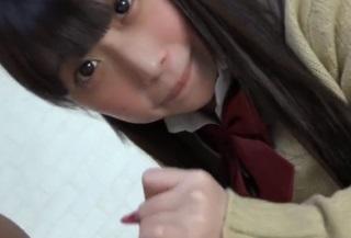 【無修正】天真爛漫なチンポ大好き美少女JK(18)にノーパンのままフェラさせる
