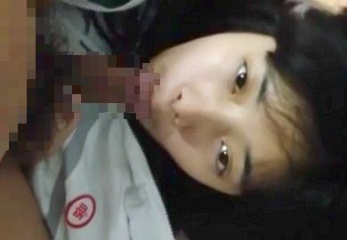 【無修正】韓国人の激カワ彼女のお口にデカマラ突っ込む一部始終の個人撮影