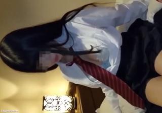 【無修正】黒髪ロングな制服美少女の瑞々しいカラダを堪能する円光SEX