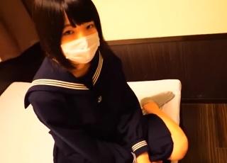 【無修正】大人しそうな学生美少女のハリのある身体を堪能する円光個人撮影