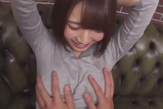 【無修正】菊川みつ葉 プルプル美巨乳な激カワ美少女がオマンコびちょびちょの生中セックス