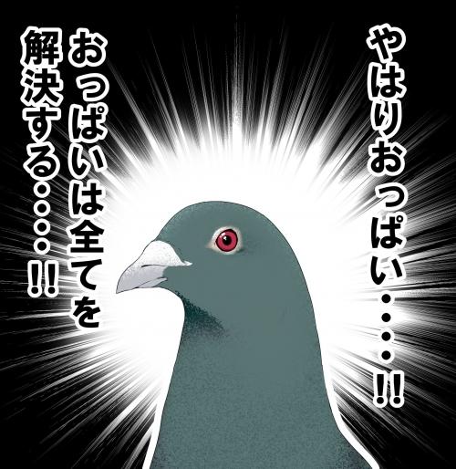 おっぱいはすべてを解決する鳩