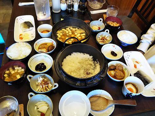 20181018草津温泉民泊花栞(はなしおり)今朝の宿泊のお客様の朝食