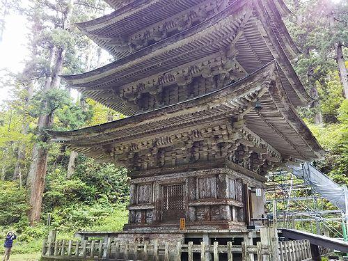 20181023山形県鶴岡市、出羽三山神社・五重塔 (10)