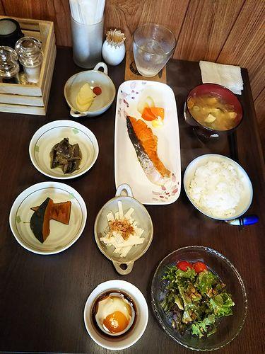 20181026草津温泉民泊花栞(はなしおり)今朝の宿泊のお客様の朝食